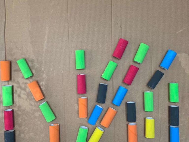 Rouleaux papier-toile vides en couleur